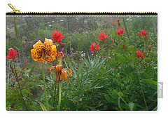Tiger Lillies And Indian Paintbrush Carry-all Pouch