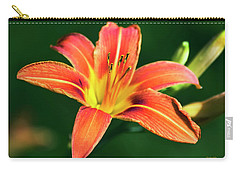 Carry-all Pouch featuring the photograph Tiger Lily by Christina Rollo