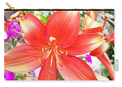 Carry-all Pouch featuring the photograph Tiger Lily by Sharon Duguay