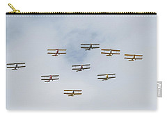 Carry-all Pouch featuring the photograph Tiger Moth Formation by Gary Eason