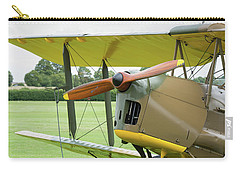 Carry-all Pouch featuring the photograph Tiger Moth Propeller by Gary Eason