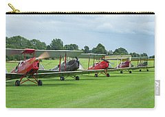 Carry-all Pouch featuring the photograph Tiger Moths Formation Shutdown by Gary Eason
