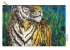 Tiger Night Hunt Carry-all Pouch by Shirley Heyn