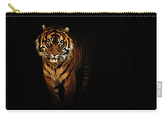 Tiger On A Black Background Carry-all Pouch