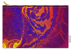 Tiger On Fire Carry-all Pouch