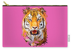 Tiger On The Hunt Carry-all Pouch