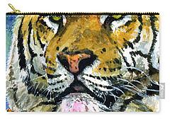 Tiger Portrait Carry-all Pouch by John D Benson