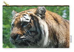 Carry-all Pouch featuring the photograph Tiger Profile by Richard Bryce and Family