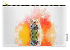 Tiger Sunset Carry-all Pouch by Suzanne Handel