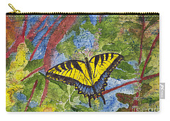 Tiger Swallowtail Watercolor Batik On Rice Paper Carry-all Pouch