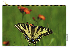 Tiger Swallowtail Butterfly Carry-all Pouch by Nancy Landry