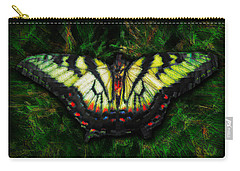 Carry-all Pouch featuring the photograph Tiger Swallowtail by Iowan Stone-Flowers