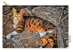 Carry-all Pouch featuring the photograph Tiger Tiger Burning Bright by Leigh Kemp