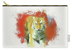 Tiger Two Carry-all Pouch by Suzanne Handel