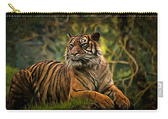 Carry-all Pouch featuring the photograph Tigers Beauty by Scott Carruthers