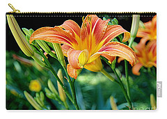 Carry-all Pouch featuring the photograph Tigers In The Garden by Nancy Kane Chapman