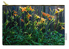 Carry-all Pouch featuring the photograph Tigers by Nancy Kane Chapman