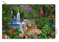 Tigers Of The Forest Carry-all Pouch