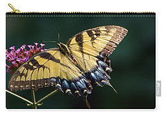 Carry-all Pouch featuring the photograph Tigress And Verbena by Byron Varvarigos