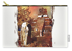 Carry-all Pouch featuring the painting Tikal Mayan Ruins- Guatemala by Ryan Fox