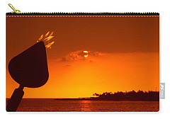 Tiki Lights In Kona Carry-all Pouch by Athala Carole Bruckner