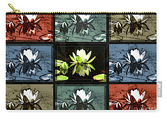 Tiled Water Lillies Carry-all Pouch