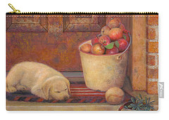 Carry-all Pouch featuring the painting Till The Kids Come Home by Nancy Lee Moran