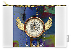 Carry-all Pouch featuring the mixed media Time Flies by Marvin Blaine