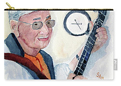 Carry-all Pouch featuring the painting Time Flies by Sandy McIntire