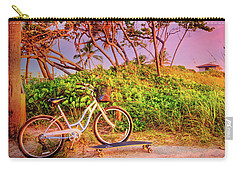 Carry-all Pouch featuring the photograph Time For Beach Fun by Debra and Dave Vanderlaan