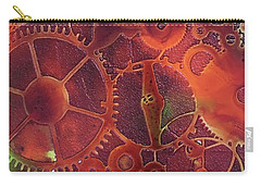 Carry-all Pouch featuring the painting Time Marches On by Suzanne Canner