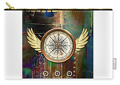 Carry-all Pouch featuring the mixed media Time To Fly by Marvin Blaine