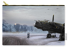 Carry-all Pouch featuring the photograph Time To Go - Lancasters On Dispersal by Gary Eason
