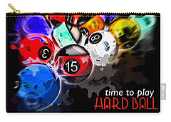 Time To Play Hard Ball Black Carry-all Pouch