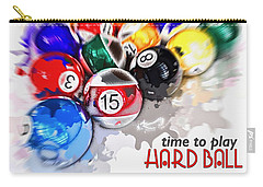 Time To Play Hard Ball White Carry-all Pouch