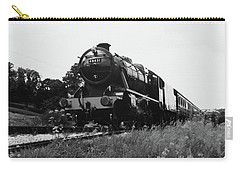 Time Travel By Steam B/w Carry-all Pouch by Martin Howard