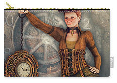 Carry-all Pouch featuring the digital art Timekeeper by Jutta Maria Pusl