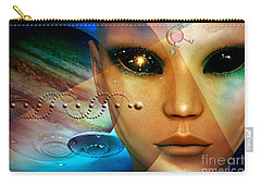 Carry-all Pouch featuring the digital art Timeless Traveller by Shadowlea Is
