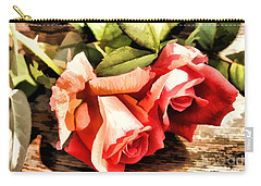 Timeless Tropicana Roses Carry-all Pouch