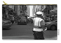 Carry-all Pouch featuring the photograph Times Square, New York City  -27854-bw by John Bald