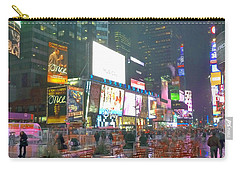 Times Square Red Rain Carry-all Pouch