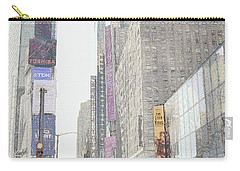 Times Square Street Scene Carry-all Pouch