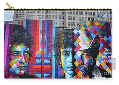 Times They Are A Changing Giant Bob Dylan Mural Minneapolis Fine Art Carry-all Pouch by Wayne Moran