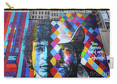 Times They Are A Changing Giant Bob Dylan Mural Minneapolis Getting Older Carry-all Pouch
