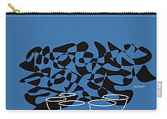 Timpani In Blue Carry-all Pouch by David Bridburg