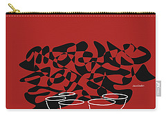 Timpani In Orange Red Carry-all Pouch by David Bridburg