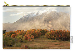 Carry-all Pouch featuring the photograph Timpanogos Veil by Dustin LeFevre