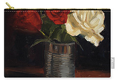 Carry-all Pouch featuring the painting Tin Can Love by Billie Colson