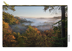 Carry-all Pouch featuring the photograph Tinkers Creek Gorge Overlook by Dale Kincaid