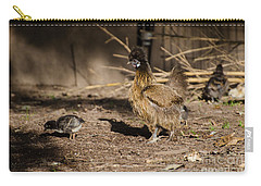 Carry-all Pouch featuring the photograph Tiny And Babies by Donna Brown